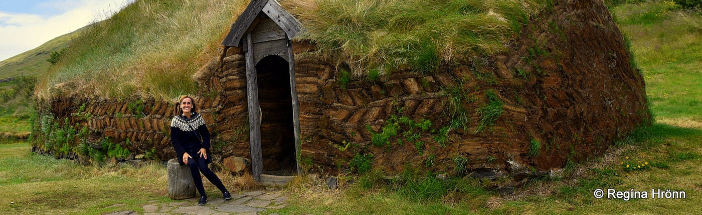 Viking Areas in Iceland - Eiríksstaðir Long House in West-Iceland