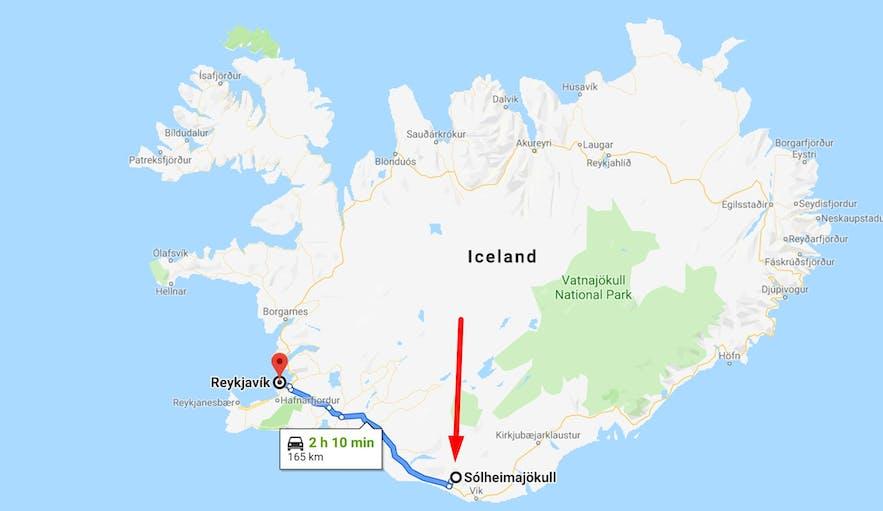 아이슬란드 빙하 솔헤이마요쿨 하이킹