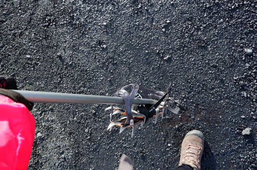 아이젠, 그램폰 빙하장비