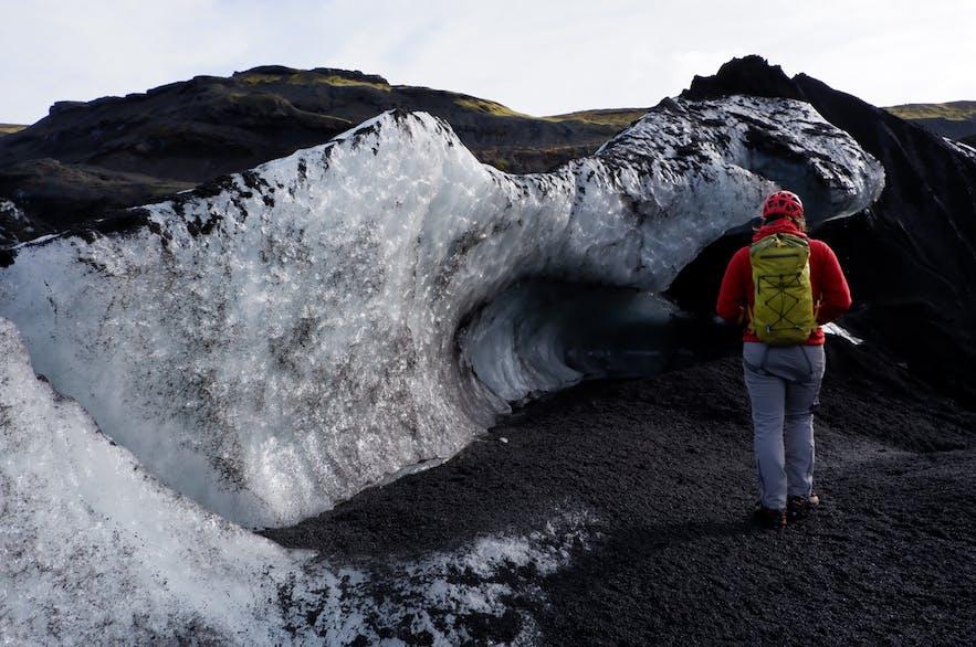 빙하가 녹아 만든 신기한 형상