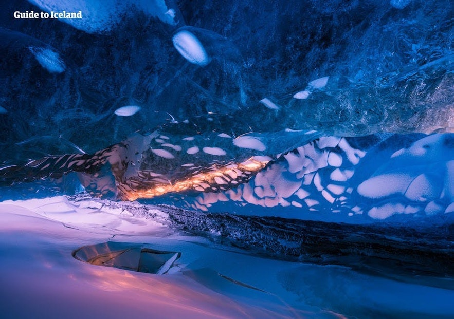 Stepping into an ice cave is something of a psychedelic experience.