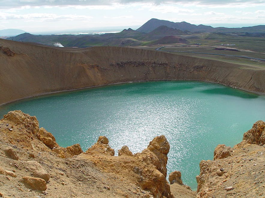 Viti in Krafla is a dramatic explosion crater, accessible in north Iceland in summer.