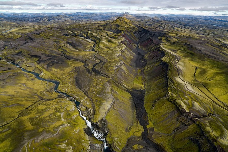 Eldgja Canyon is the largest volcanic canyon in the world.