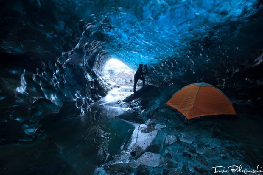 A glacier cave in Iceland