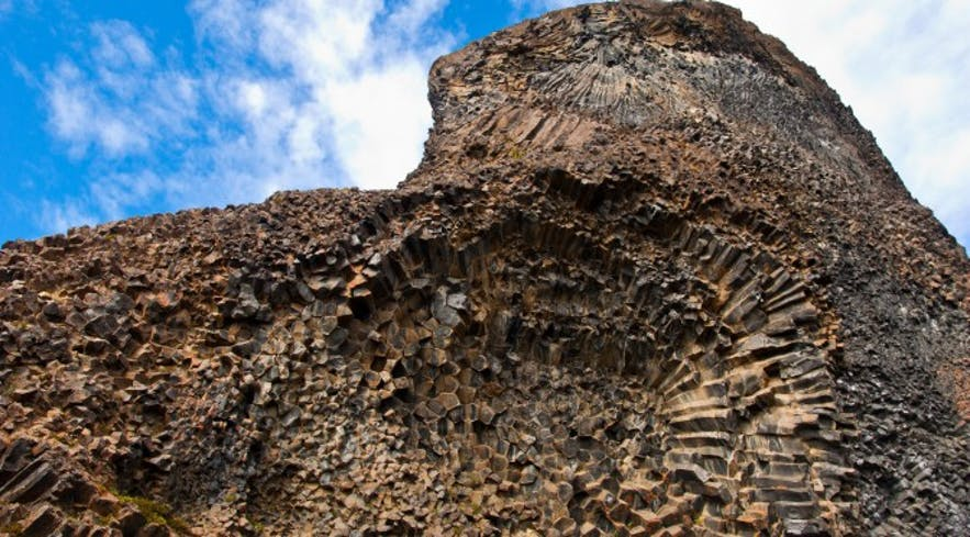 One of the rock formations found in the Vesturdalur Valley in Iceland's North