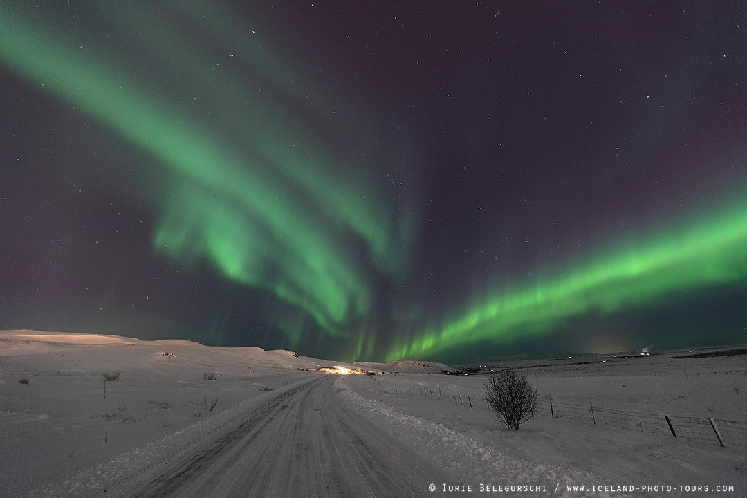 Winter road in Iceland