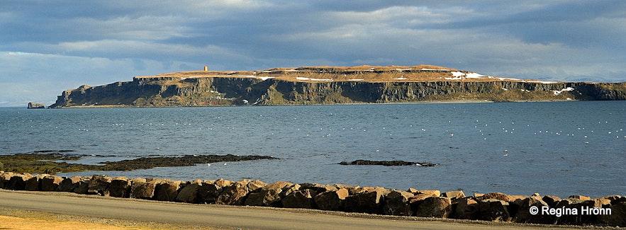 Grímsey island in Steingrímsfjörður Strandir