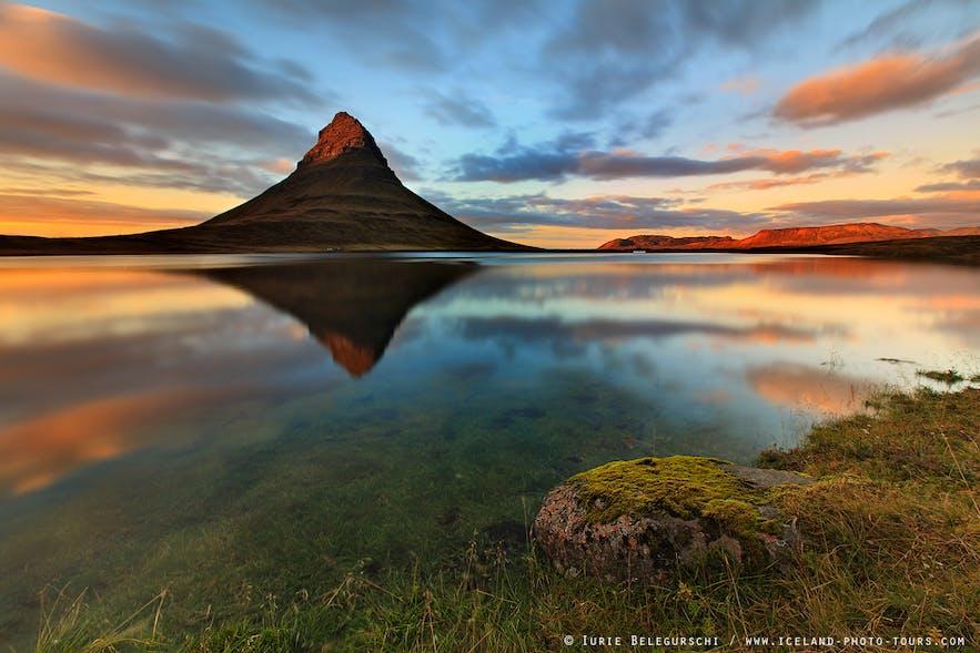 冰岛西部斯奈山半岛的摄影明星草帽山