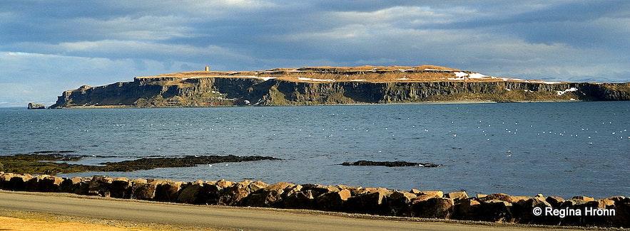 Grímsey island on Steingrímsfjörður bay Westfjords