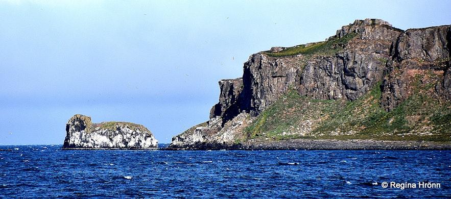 Grímsey island in Steingrímsfjörður Westfjords