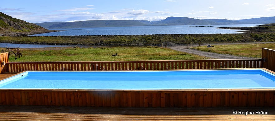Drangsnes at Strandir in the Westfjords of Iceland, the Troll and the Hot Tubs