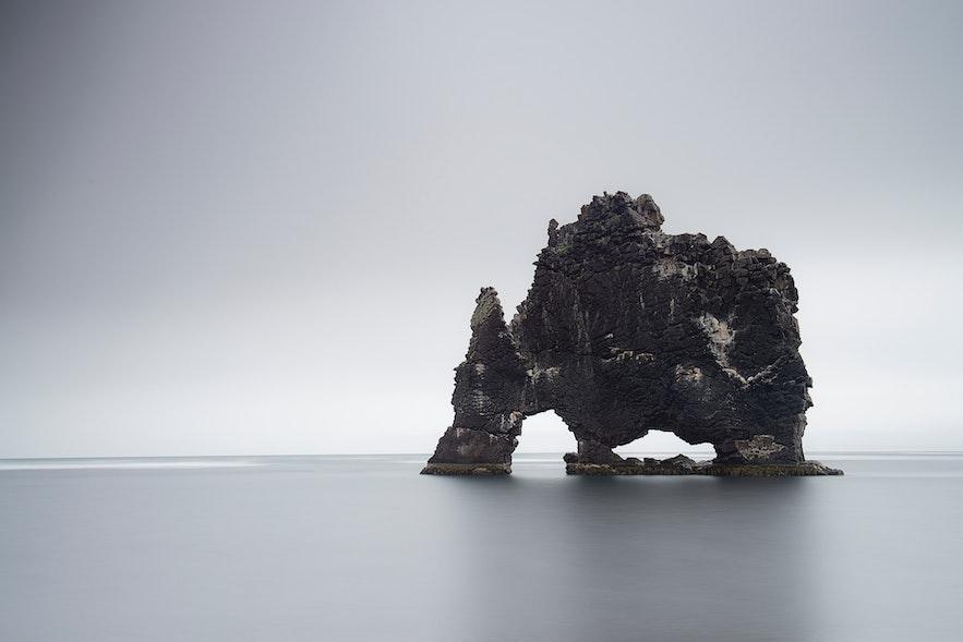 冰島北部犀牛石(亦稱象形石)
