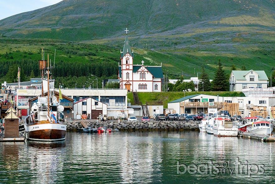 Husavík en el norte de Islandia es bonito lo mires por donde lo mires