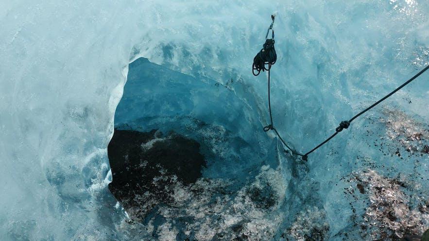 La entrada a la cueva de hielo