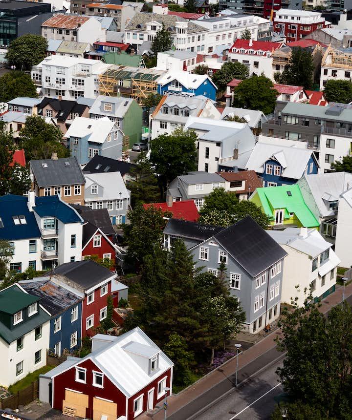 冰島首都雷克雅維克的小房子