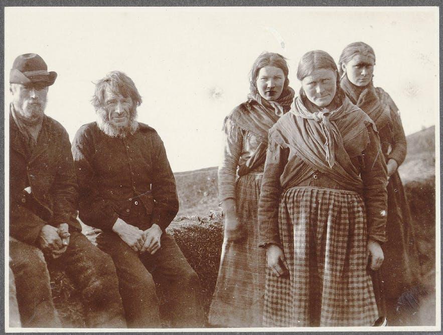 Residents of Reykjavík in the 19th Century.