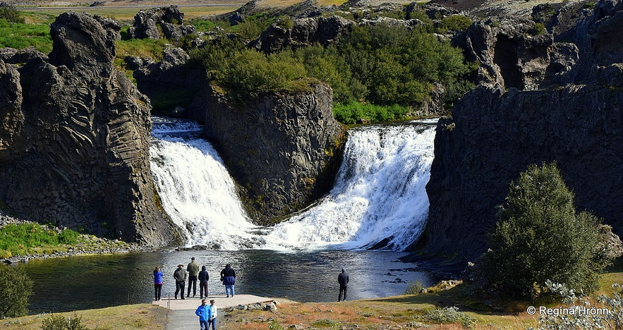 Hjálparfoss waterfall