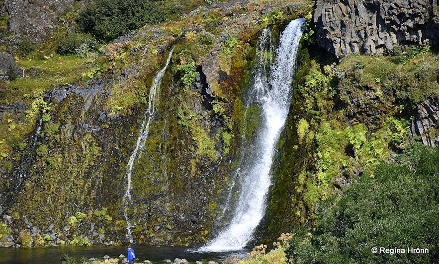 A lovely waterfall in Gjáin