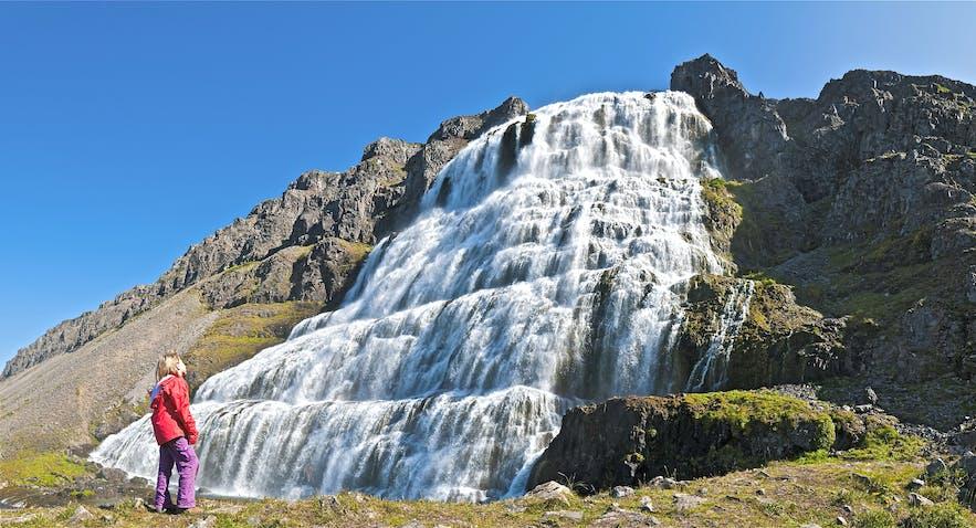 Dynjandi waterfall in the west fjords