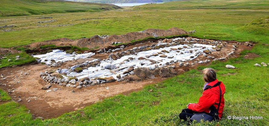 Ruins of a Viking farm in Ólafsdalur
