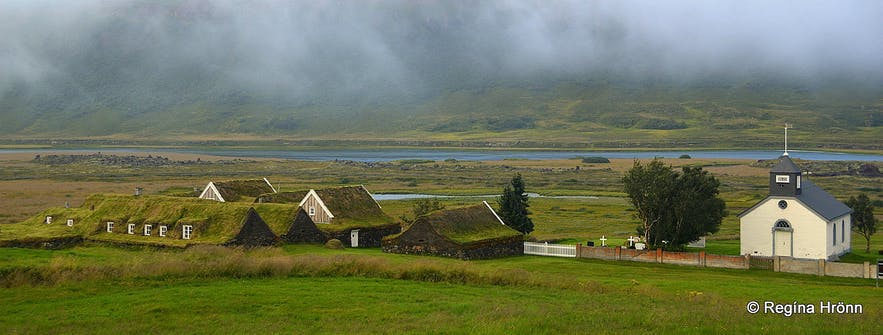 아이슬란드의 북부 잔디주택 쓰베라우, 총 9채의 주택으로 구성되어 있습니다