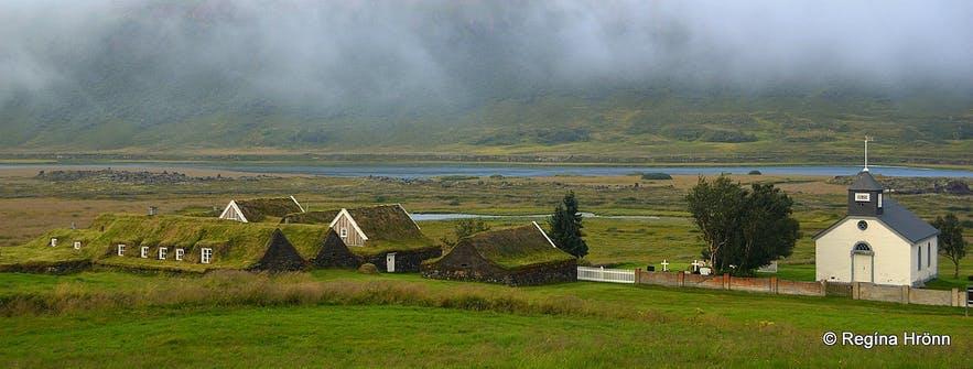 Þverá是冰岛北部的一组草皮屋