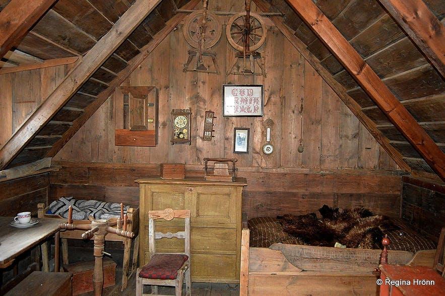 冰岛草皮屋的内部家具
