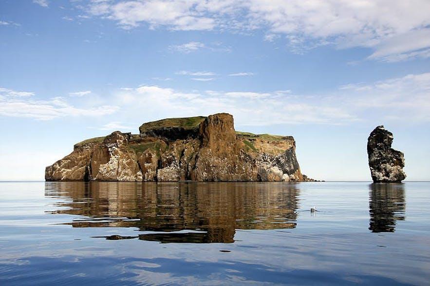 Drangey Island in Summer