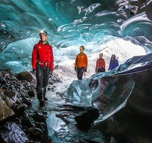 Błękitna jaskinia w Solheimajokull   Start z Reykjaviku