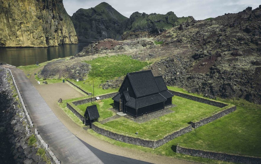 Black Church by the Harbour on Westman Island