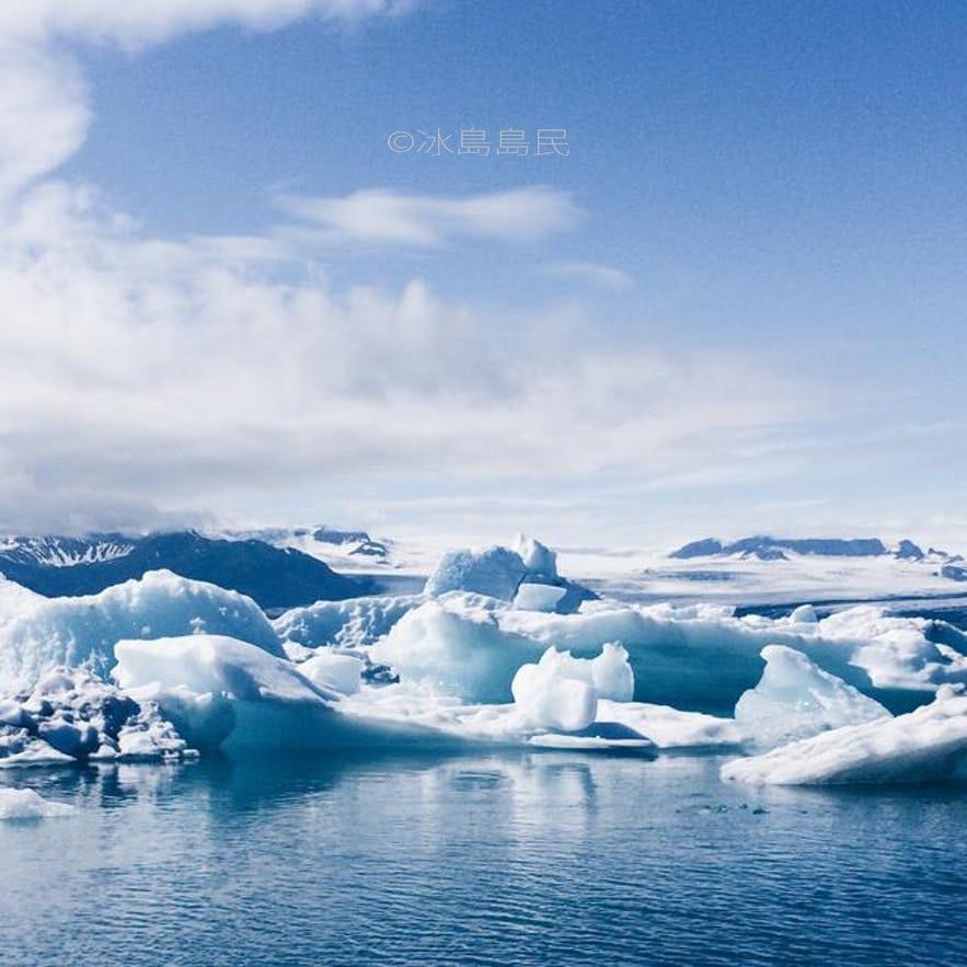 冰島冰湖夏季景色