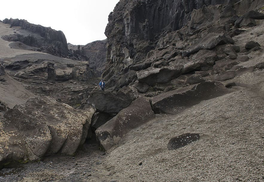 Drekagil is beautiful canyon in north Iceland.