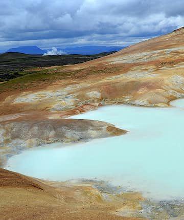 Leirhnjúkur area in northeast Iceland