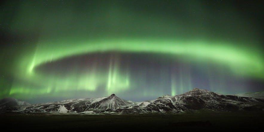 冰島西部鯨魚峽灣拍極光