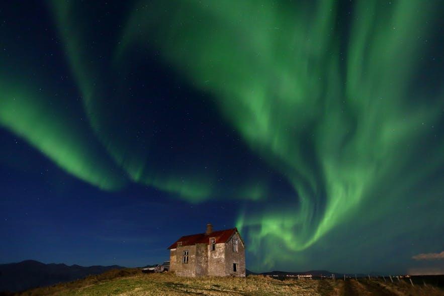 冰島西部看極光拍極光的地點推薦