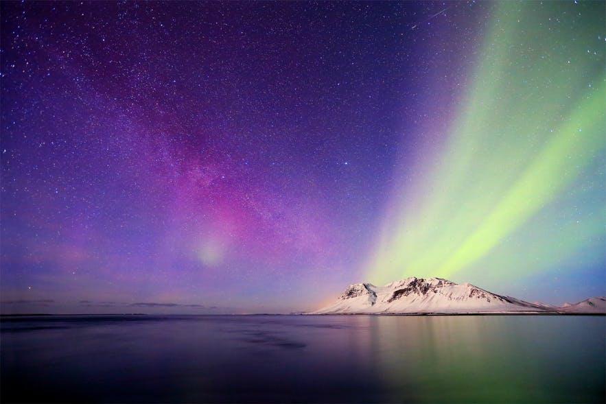 冰島斯奈山半島峽灣北極光攝影