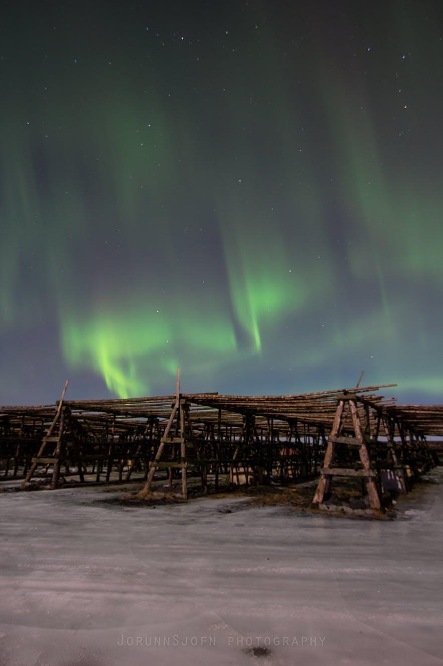 冰島首都郊區北極光攝影效果