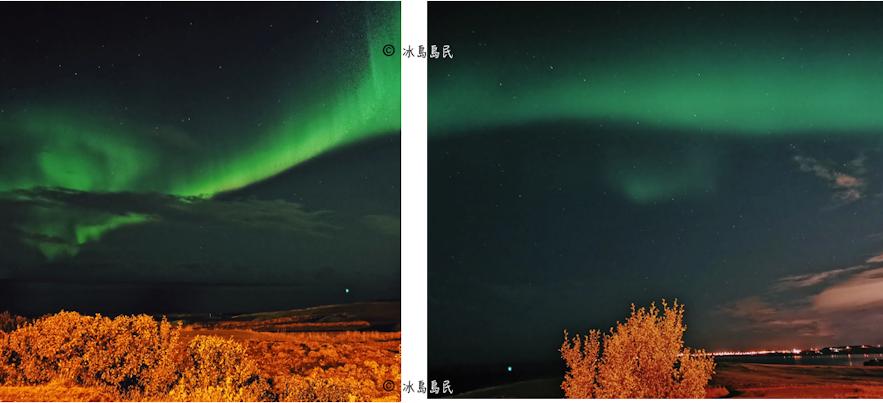 華為手機在冰島拍極光的效果