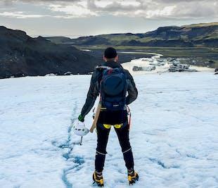 Randonnée sur glacier au Solheimajökull