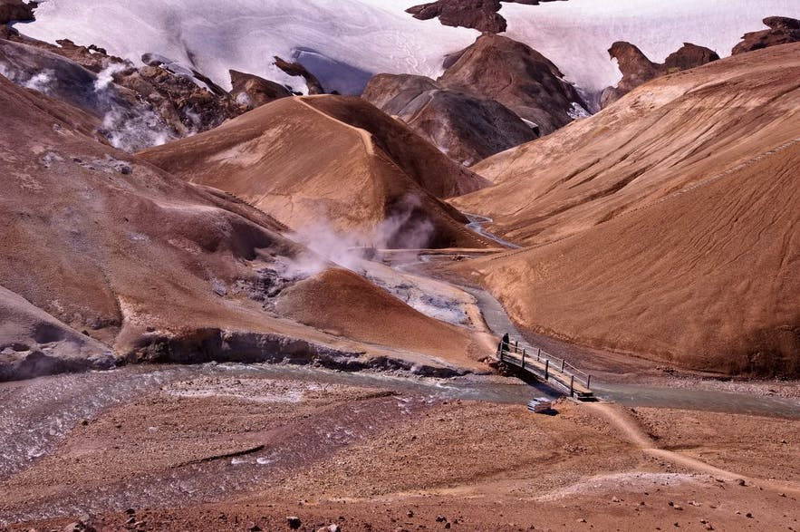 Горы Ландманналёйгар (Ландманналаугар) в высокогорной Исландии