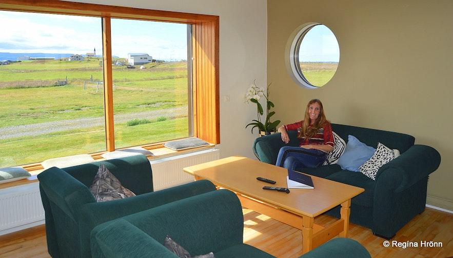 Regína at Reykhólar hostel Westfjords of Iceland