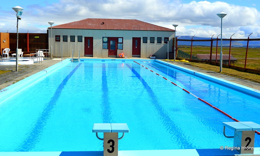 Grettislaug swimming pools Reykhólar Westfjords of Iceland