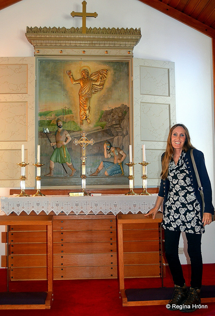 Regína in Reykhólakirkja church