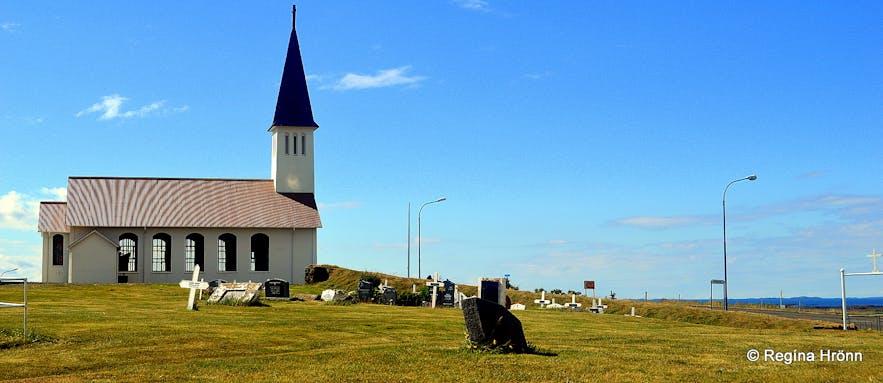 Reykhólakirkja church at Reykhólar