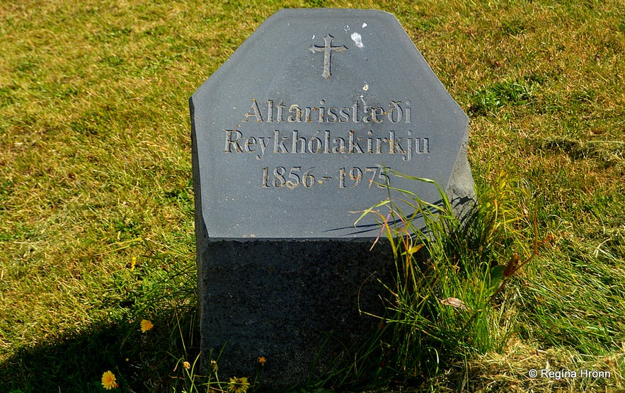 The site of the altar of the old Reykhólakirkja church