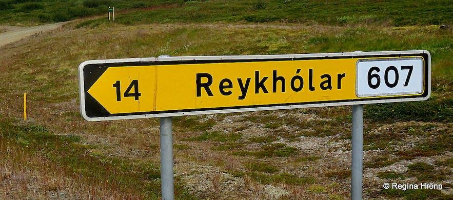 The Reykhólar road sign