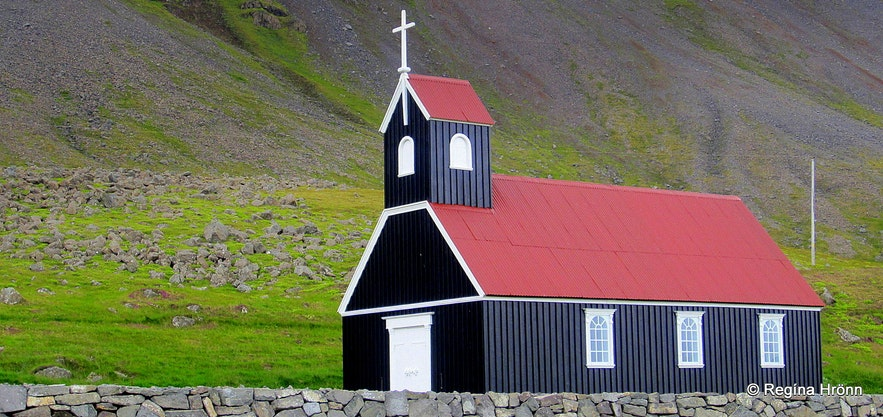 The old Reykhólakirkja church which was moved to Rauðasandur