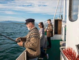 レイキャビクの港から行く海釣り体験(複数出発)