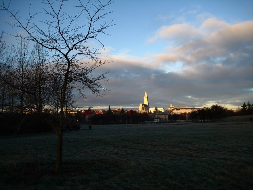 A view of Reykjavik from Klambratun.
