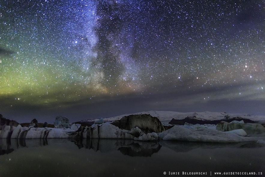 Photo de la lagune de Jokulsarlon un des meilleurs spots pour les aurores boréales